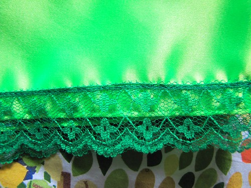 neon green pettipants lace