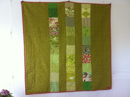 Made in Cherry Lime quilt back