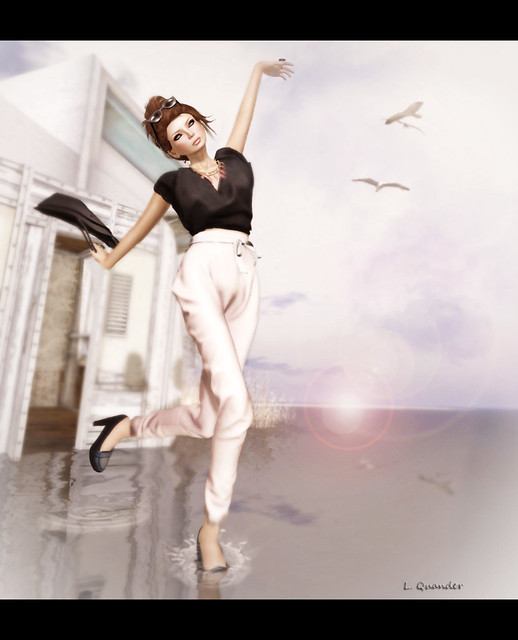FaMeshed - -Glam Affair- Lou Pants - Pastel Pink