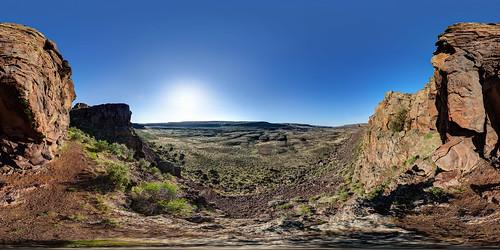park panorama cliff landscape washington desert flood panoramic canyon hike wa coulee grandcoulee fusion washingtonstate stitched 360x180 basalt ptgui themaze equirectangular photomatix canon15mm nodalninja3 lakelenorecaves lakemissoulafloods canon5dmk2 garretveley glaciallakemissoulafloods promotecontrol glaciallakefloods glacialoutburstflood lakelenorecavespark