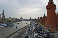Vue sur la Moskova et le Kremlin depuis le Pont Bolshoy Moskvoretsky