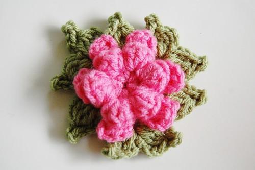 crocheted red heart yarn forever flowers
