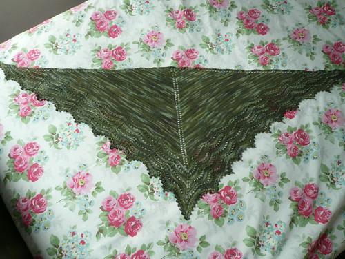 Green shawlette