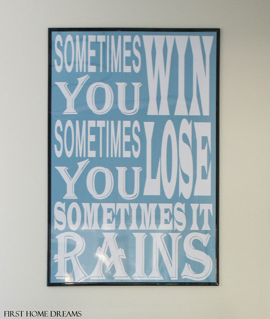 bathroom wall quote print art poster sometimes you win sometimes you lose sometimes it rains