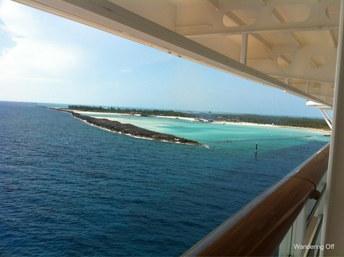 View of Castaway Cay from our verandah. Deck 10. Disney Dream.