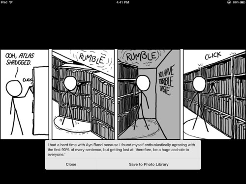 An xkcd.com comic in Reeder