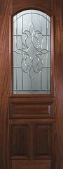 New Orleans Decorative Glass Arch Lite Mahogany Entry Door  P19145-C