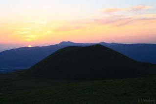 sunset behind Komezuka