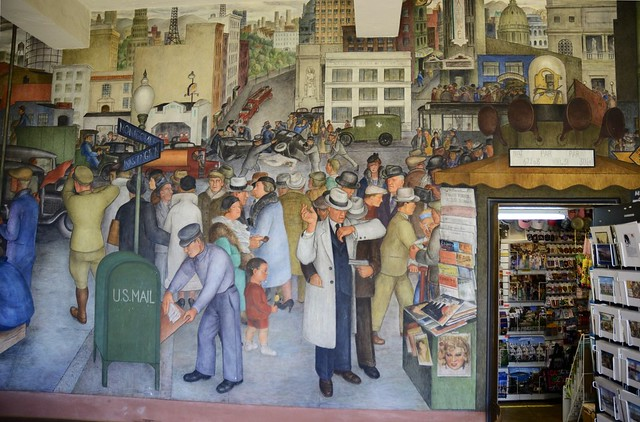 Flickr photo sharing for Coit tower mural