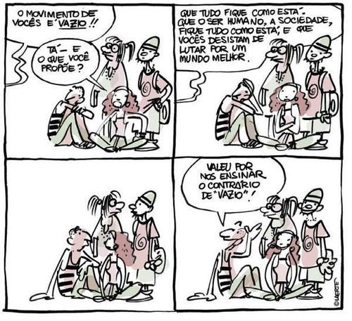 """O contrário de """"vazio"""", por Laerte"""