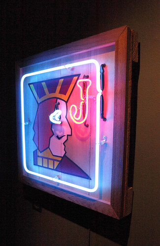 """One-Eyed Jack"" Neon Sign"