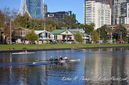 Canoeing on the Yarra
