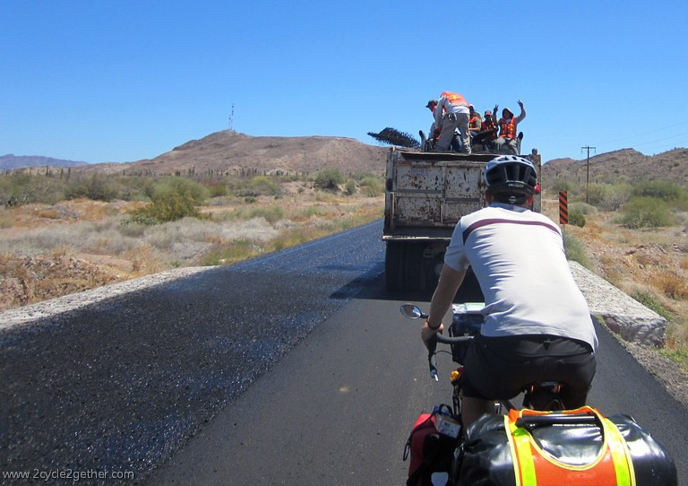 Roadworkers, Highway 1, south of Mulege
