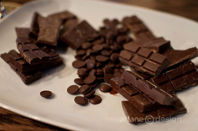 Urge Chocolate sampling: Black Pepper, 55% cocoa nibs, Fleur de Sel caramel