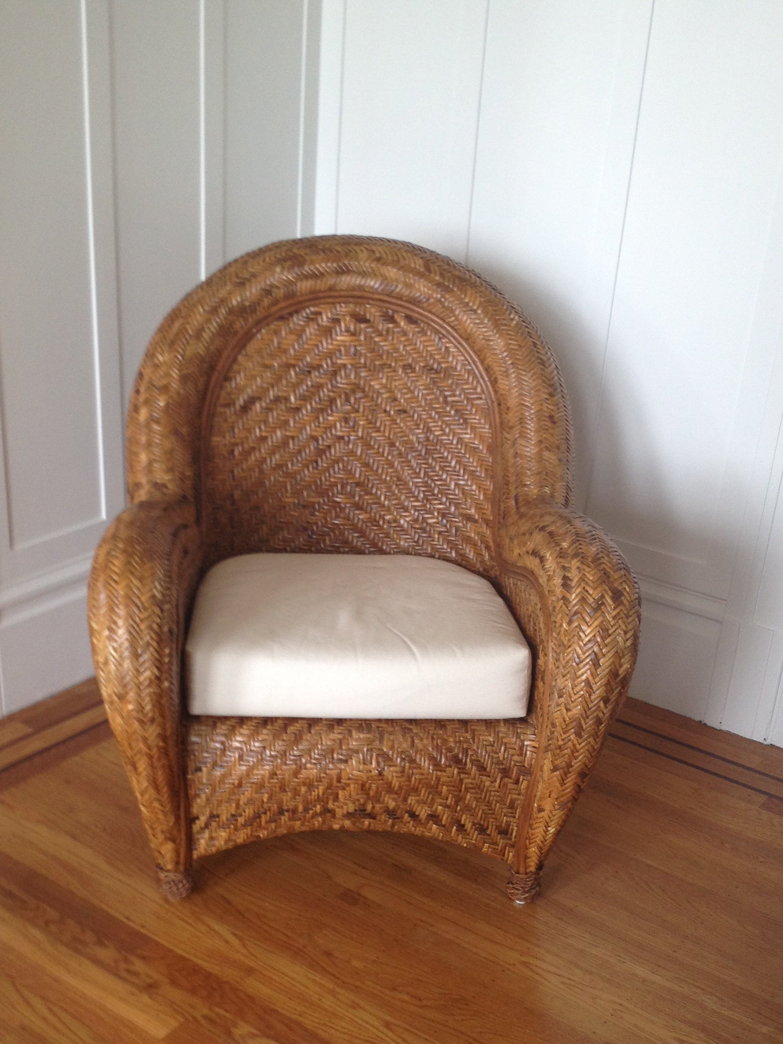 Pottery Barn Malabar Chair With Ottoman 125 Flickr