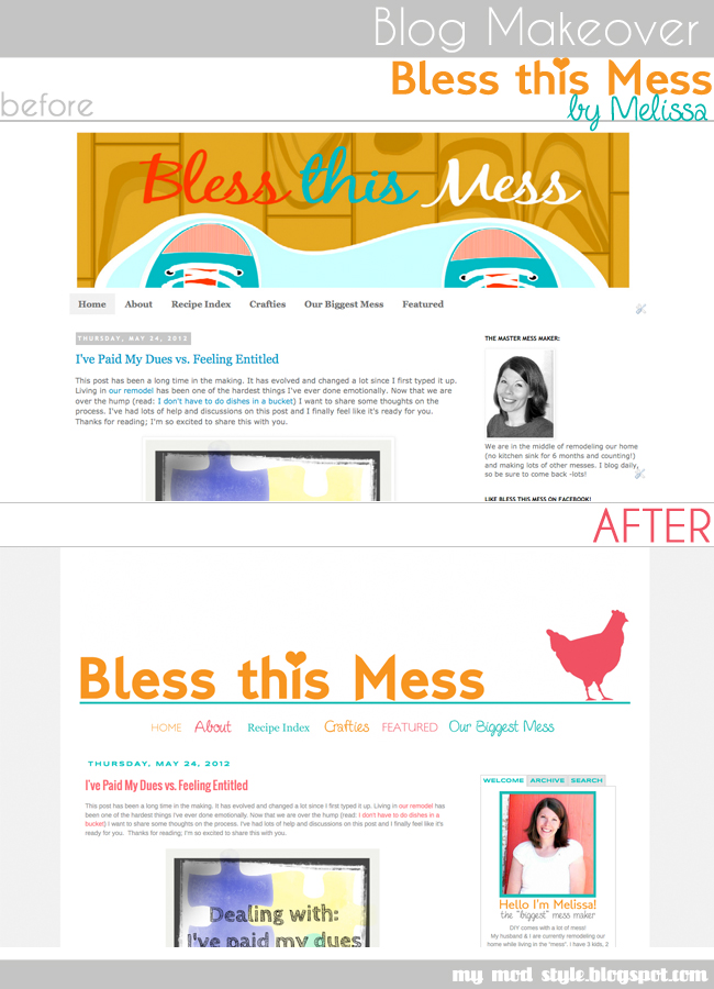 BLOG MAKEOVER BlessThisMess
