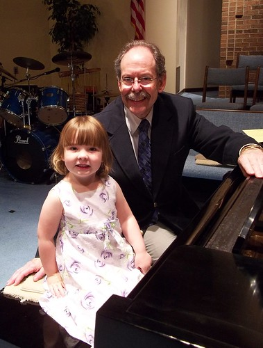 Lucy and her piano teacher