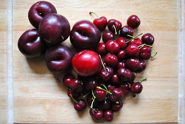 cherries and plums
