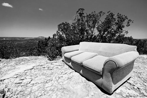 The Couch and Old Baldy (B&W)
