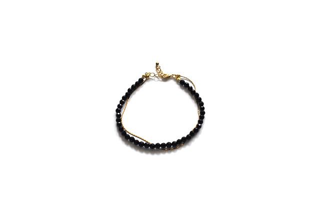 onyx & chain bracelet