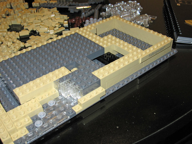 how to make a lego waterfall