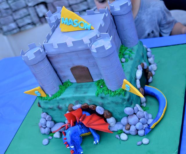 Dragon Castle Cake