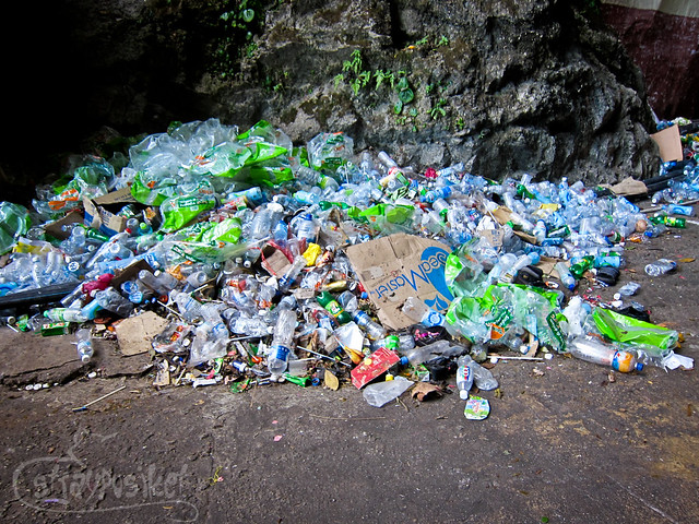 Garbage at Batu Caves