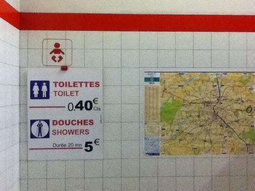 巴黎Eurolines车站卫生间