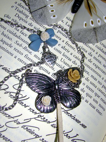 Colar borboleta - silver by kideias - Artesanato