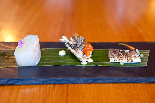 Course 7: Madai, fried madai skin, Ayu