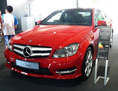 Mercedes Benz C 250 red AMG Sport Coupe 2011 vl