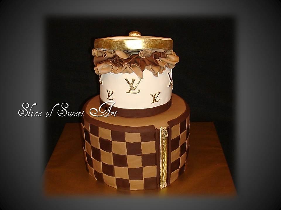 Louis Vuitton Inspired Birthday Cake