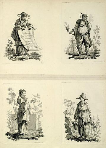 005-Diferentes figuras chinas-Oeuvre gravé de Jean Pillement..1767-Vol 1- INHA