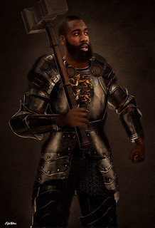 Knight James Harden Art by Alijah Villian