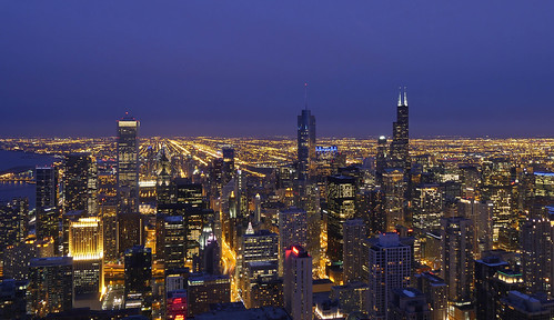 Chicago Skyline from Hancock tower