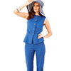 Retro Blouse and Pant Suit