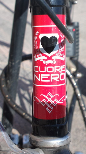 Cuore Nero bicycle head badge logo