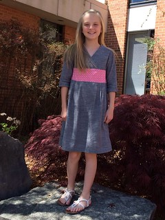 Oliver+S Library dress in chambray