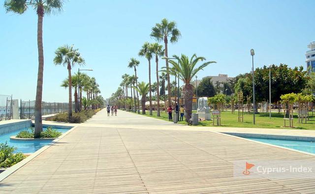 Лимассол Кипр, набережная для прогулок