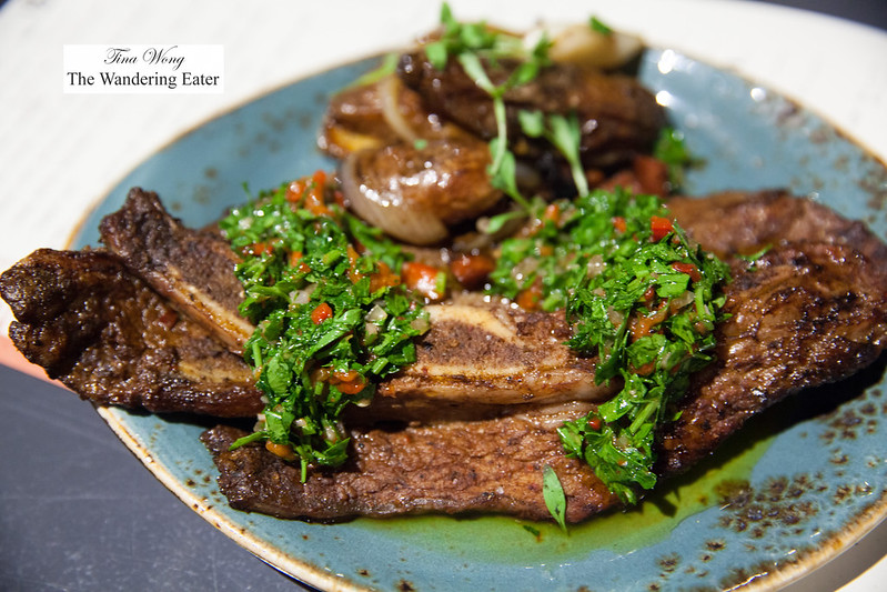 Gaucho style grilled beef short rib