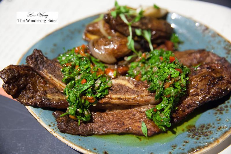Gaucho style grilled beef short rib