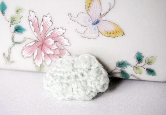 Pastel Green Cloud Brooch