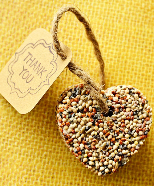 Eco-Friendly Birdseed Wedding Favors