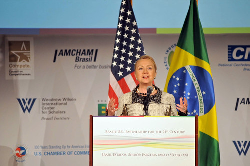 Secretary Clinton Delivers Remarks on U.S.-Brazil Partnership