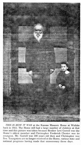Levi Henshaw Gorrell, Oldest resident at Kansas Masonic Home