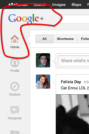 Google Plus Bar and Ribbon Flow Into Each Other