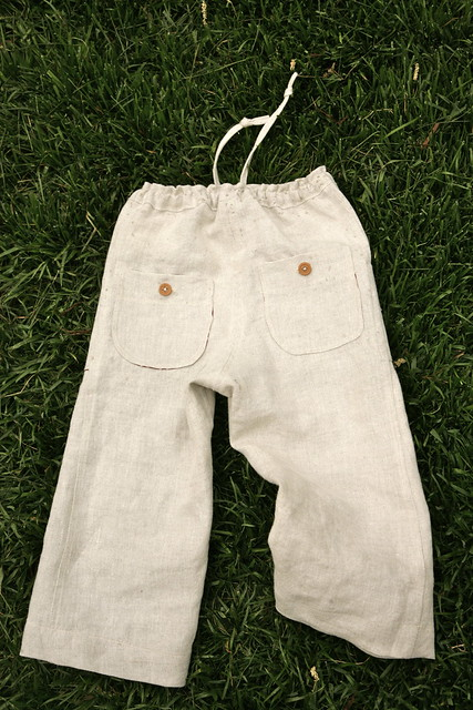 Sandbox pants, back.