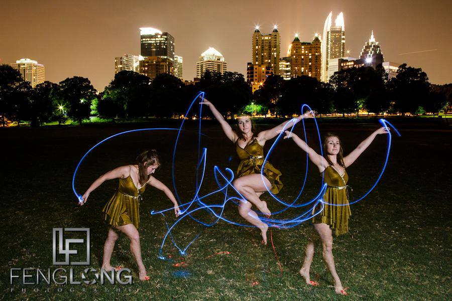 Megan Dances With Light