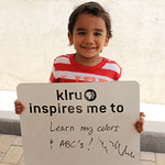 KLRU inspires me to ... learn my colors and ABCs!