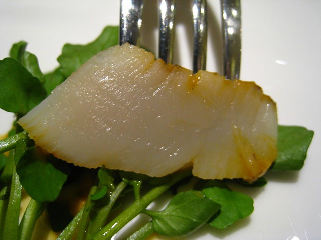 Cross-section of my grilled Hokkaido scallop